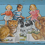 SOLD Dick And Jane Character Cutouts Teaching Aids - Red Tag Sale Item