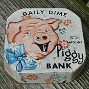 Daily Dime Register Piggy Bank