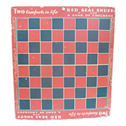 Red Seal Snuff Advertising Checker Board Premium