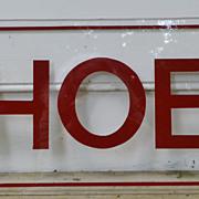 Retro Lucite SHOES Sign