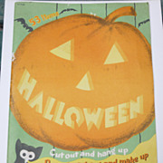 1953 Whitman Halloween Activity Book - Make Your Own Party!
