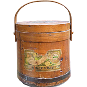 Heinz Mince Meat Firkin Bucket With Original Labels