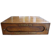 Crowley's Embroidery Forms Wooden Store Cabinet