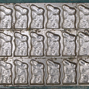 Large Flat Easter Bunny Chocolate Mold
