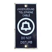 Porcelain Telephone Underground Cable Sign