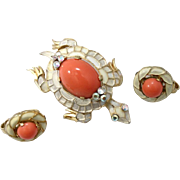 Trifari L'Orient Turtle and Earrings Demi