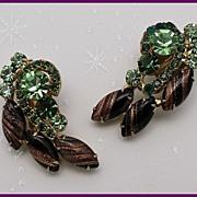 Juliana DeLizza & Elster Aventurine Clip Earrings