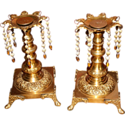 Pair of brass Candlesticks with