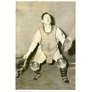Real Photo Photography Baseball Catcher