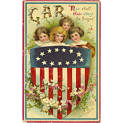 SOLD GAR Signed Ellen Clapsaddle GAR Grand Army of the Republic Memorial Day Patriotic