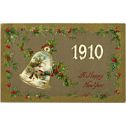 SOLD 1910 John Winsch New Year vintage Postcard  Free US Shipping