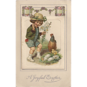 Rare John Winsch Jason Frexis Mechanical Easter Booklet  vintage postcard