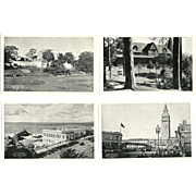 Lot of 18 1930's-40's Railroad Train Black and white Correspondence Postcards San ...