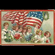 SOLD Spectacular Frances Brundage Tuck Decoration Day Vintage Patriotic Postcard