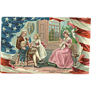 Raphael Tuck Washington's Home life at Mount Vernon - Patriotic Postcard Children