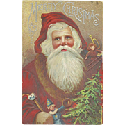 SOLD 1912 Vintage Santa Claus Christmas Postcard