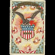 1904  Hurrah Let the Eagle Scream Fourth of July Vintage Patriotic Postcard