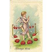 "SOLD Vintage Valentine Postcard Series 711 ""Always Thine"""
