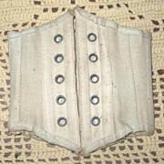 "SALE PENDING 8.5"" Boned Ivory Doll Corset 5 Sets Grommets"