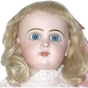 "19"" Tete Jumeau 8 Blue Paper Weight Eyes  Mama/Papa Strings"