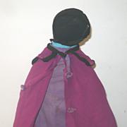 "Old 13"" Black Amish Doll Missouri  Provenance"