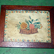 Scarce 19th Century Miniature Water Color Doll House Theorem