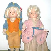 "SALE Effanbee 9.5"" George & Martha Patsyettes Original Costumes"