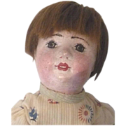"""18""""Gertrude  Rollinson Oil Painted Stockinette Doll Open Mouth"""
