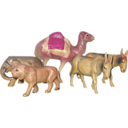 SOLD 5 Celluloid 1920's Japan Toy Animals