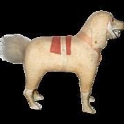 "5.5""German Woolly Dog Glass Eyes Wood Legs"