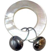 19 C Tiffany & Co MOP Teething Ring 2 Marked Sterling Bells