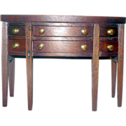 19th Century Miniature or Apprentice Model Federal Sideboard 5.12 Inches Tall