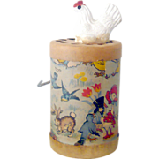 1930's AY-WON The Cackling Hen Lithographed Paper Crank Toy Great Graphics and Cackling ...