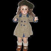 17 Inch UNIS France 301 E.T. School Girl  Original Pre Teen Body 1930's ...