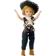 Pattern Knit Caballero Costume for 14 Inch Mary Hoyer Sombrero Bolero Pants