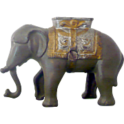 "REDUCED Cast Iron  A. C. Williams ""Swinging Trunk"" Elephant Bank Good Original Paint"