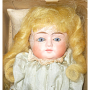 11 Inch 19th Century Patent Washable Composition with Original Costume and Box Nice Face