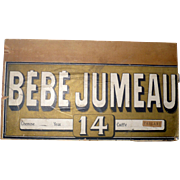 12 Inch by  6.75 Inch Lithographed Paper on Wood BEBE JUMEAU Box End for ...