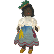 18 Inch Holzer and CIA Painted Felt made in Brazil Mariposa Doll with Label