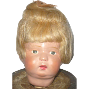 REDUCED Schoenhut Toddler Head Great Face Paint and Wig