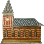 SOLD 19th Century American Lithographed Paper on Wood Church Box