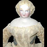 7 Inch Blond Parian Lady Braided Bun Linen Body and Parian Lower Limbs Flat Black ...