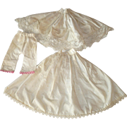 REDUCED 19th Century Linen Under Layers from China Doll 2 Petticoats and Pantaloons with Lace