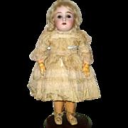 11 Inch Kestner Bisque Head 173 Brown SE Square Teeth Original Costume Blond Wig Plaster Pate