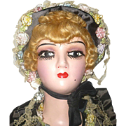 Over the Top 26 Inch 1930's American Composition Boudoir Doll Original Clothes Marceled Wig Lo