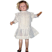 Ivory Lawn Drop Waist Edwardian Doll Dress Pleated Skirt White Work Pinafore Top for 16 ...
