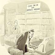 American Art - Browse Around: 1945 New Yorker Cartoon Original Art by Claude