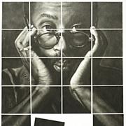 American Art - Bobby McFerrin Mosaic - Original Charcoal Drawing Montage