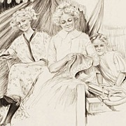 SALE American Art - Charles SHELDON: Performers Outside a Tent; Original Illustration Art