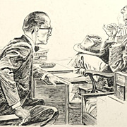 """SALE American Art - Hal Stone: """"Accuse Someone of Murder?"""" 1961 story illustration"""
